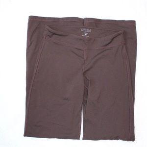 Athleta Wide Leg Brown Yoga Pants Size M